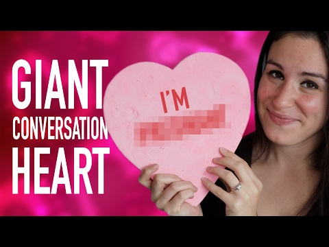 DIY GIANT CONVERSATION HEART