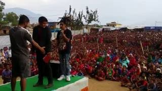 Bhadragol artist Bale & Cockroach in stage show | Nepali live comedy