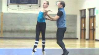 Wendy Whelan and Tyler Angle rehearse new Wheeldon piece