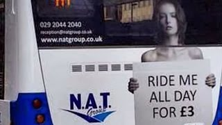 """""""Ride Me All Day"""" Bus Ad Gets UK Company In Trouble"""