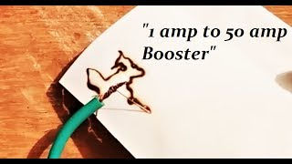 How to make a 1 amp to 50 amps current boost inverter circuit DIY