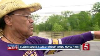 Flash Flooding Closes Franklin Roads, Moves Prom