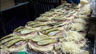 Cheese Feast, Mountain of Sandwiches. Street Food of London, Borough Market