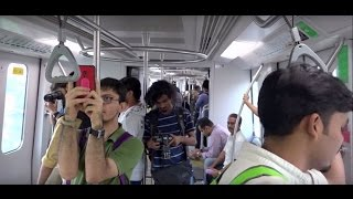 Superhit & Speed Upgraded Mumbai Metro Train Journey In Monsoon Season !!!