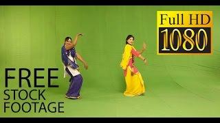 Chroma - green screen - Gidda - indian dance - punjabi Gidda stock footage free download
