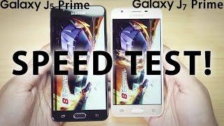 GALAXY J5 Prime vs J7 Prime - SPEED TEST, RAM Management
