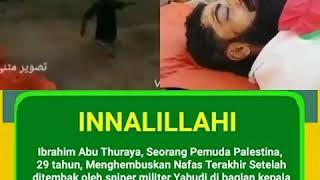 INNALILLAHI Seorang pemuda Palestina tewas di tembak oleh sniper Israel