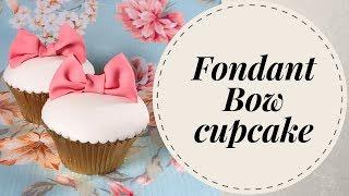 How to make Fondant bow cupcake (3 mins video)
