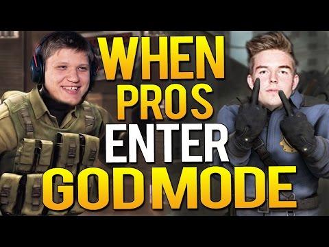 CS:GO - WHEN PRO PLAYERS ENTER GODMODE 3!(Crazy Vac shots, EPIC ACES)