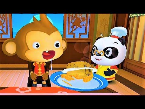 Play with Panda Chef Fun Kitchen & Making Sushi Food Dr. Panda Fun Game