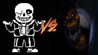 Sans vs Freddy Fazbear| ¿Quien Gana?
