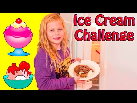 ASSISTANT Ice Cream Sundae Challenge with Mickey Mouse Donald Duck In Real Life Video