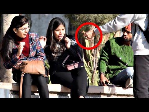 Pulling Snake From Girls Hair Prank   AVRprankTV   Pranks In India