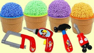 PLAY FOAM Surprise Toys Opening with Disney Mickey Mouse Tools Mousekadoer Playset!