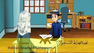 Abdul Bari learning surah Fatiha Urdu Islamic Cartoons for children