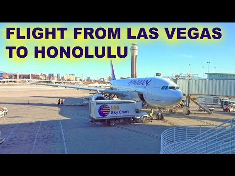 My Flight to Honolulu From Las Vegas - 2016 4K