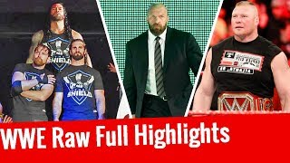 Roman Reigns Returns | Triple H In Team Raw | WWE Raw Highlights 11/13/2017 13 November 2017