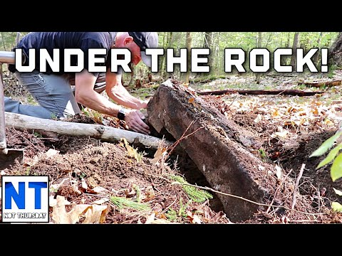 You won t believe what we found under a huge rock metal detecting