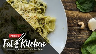 S01 EP07 Fat Kitchen - Таљатели со домашно песто /Cook from the book/