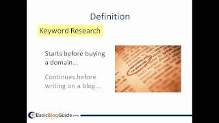Introduction to Online Keyword Research for Blogging