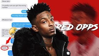 21 SAVAGE RED OPPS LYRIC PRANK