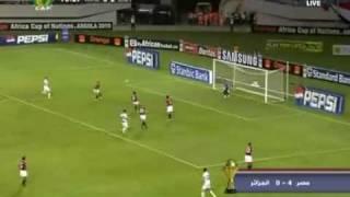 ملخص لمباراة مصر والجزائر 2010 4/0 الجزء التاني