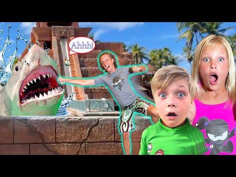Riding the Shark Slide in Atlantis Overcoming Fear