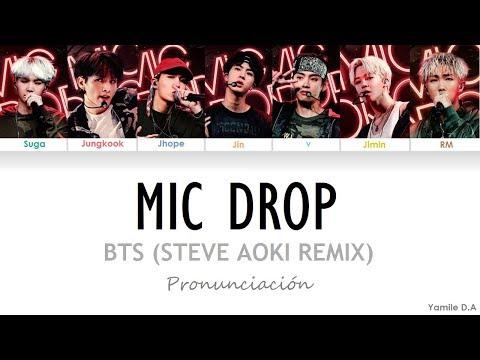 BTS Mic Drop Steve Aoki Remix Letra Fácil Pronunciación en Español