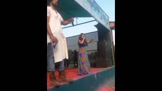 Anchor Abhilasha hosting The Biggest Holi Event