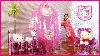 Baby Hello Kitty Giant Surprise Egg Hello Kitty Baby Toys OPENING HELLO KITTY TOYS  Kids Video Toys