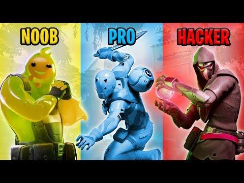 NOOB vs PRO vs HACKER Fortnite Battle Royale