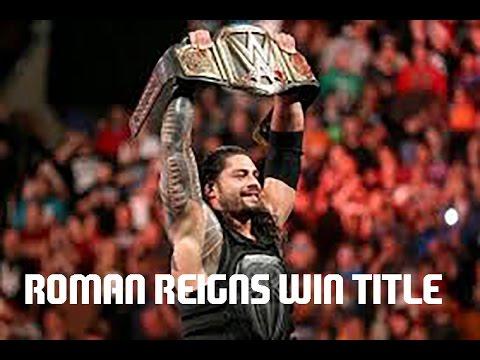 Roman Reigns Wins WWE World Heavyweight Championship Full Match: Raw, December 14, 2015