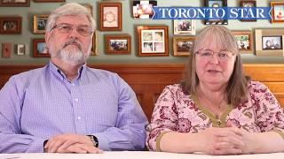 Linda and Patrick Boyle make a statement following son