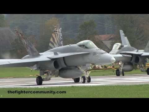 (HD) Staffel 11 F/A-18 Strafing Training at Axalp.