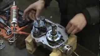 Chinese dirt bike gearbox assembly