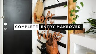 Building a Giant Minimalist Coat Rack | LOFT VIBES