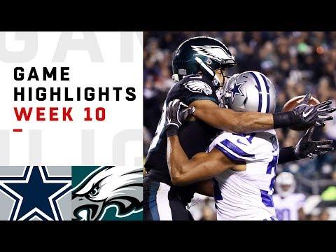 Xxx Mp4 Cowboys Vs Eagles Week 10 Highlights NFL 2018 3gp Sex
