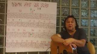 Fingerstyle Guitar Lesson #54: WHO'LL STOP THE RAIN (CCR)
