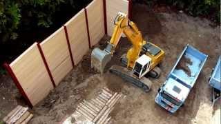 Best of RC Construction Site: Excavator and Dump Truck - Uncut