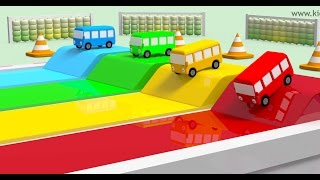 Wheels on the bus race with numbers | Best children learning videos | Kiddiestv