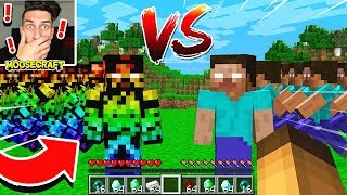 BOSS STEVE ARMY FIGHTS HEROBRINE ARMY IN MINECRAFT! *NOT CLICKBAIT*