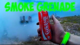 HOW TO MAKE SMOKE GRENADE FROM COCA COLA