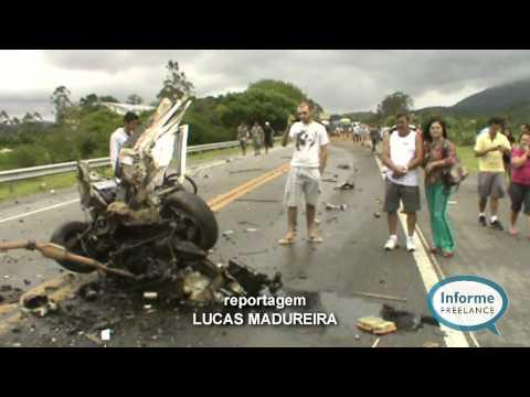 Homem morre e dois ficam feridos em acidente na BR 101 em Rio Bonito no RJ