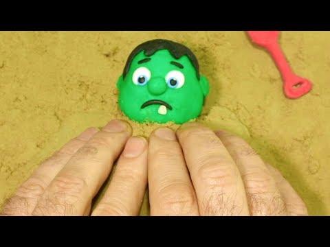 Xxx Mp4 BabyHulk Playing Sand 💕Superhero Play Doh Stop Motion Videos For Kids 3gp Sex