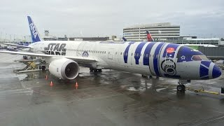 STAR WARS JET before departure cabin show