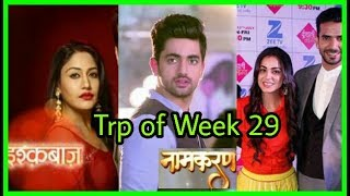Trp of week 29 out | Top 10 Serials of the week 😑| Kdb| Namkaran| Yeh Rishta