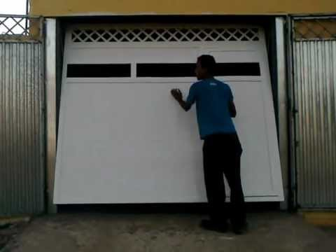 portão basculante com abertura manual JVJ Solda