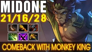 MidOne Monkey King & MKB - Comeback With New Hero - Dota 2 Patch 7.00