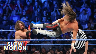 See AJ Styles and Dolph ZIggler's thrilling rematch in slow-motion: Exclusive, June 7, 2017