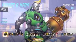 Overwatch: Doomfist Gold Weapon All Skins In-Game